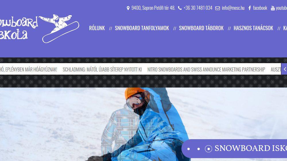 Snowboard Iskola