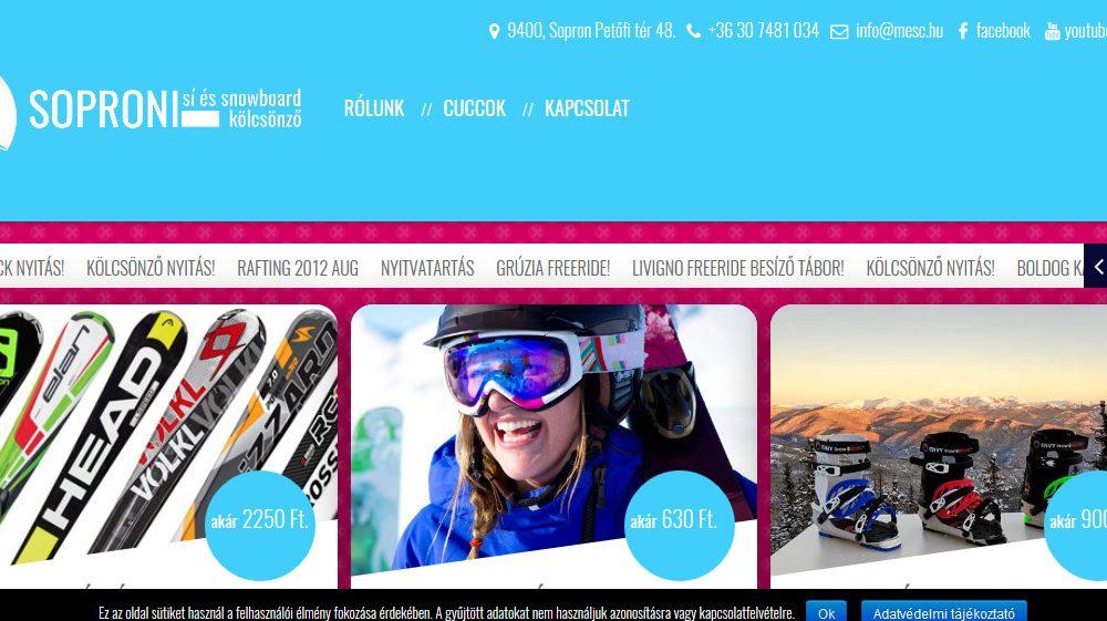 Soproni sí és snowboard kölcsönző